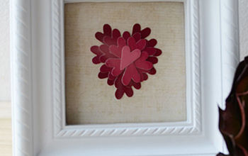 valentine s day paint chip art, crafts, painting, seasonal holiday decor, valentines day ideas, Valentine s Day Art