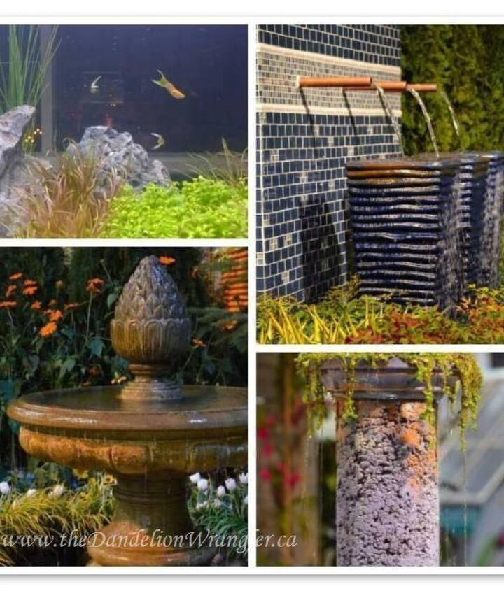 Water was a big theme of the show. Spectacular fountains from classic to one of a kind creations.