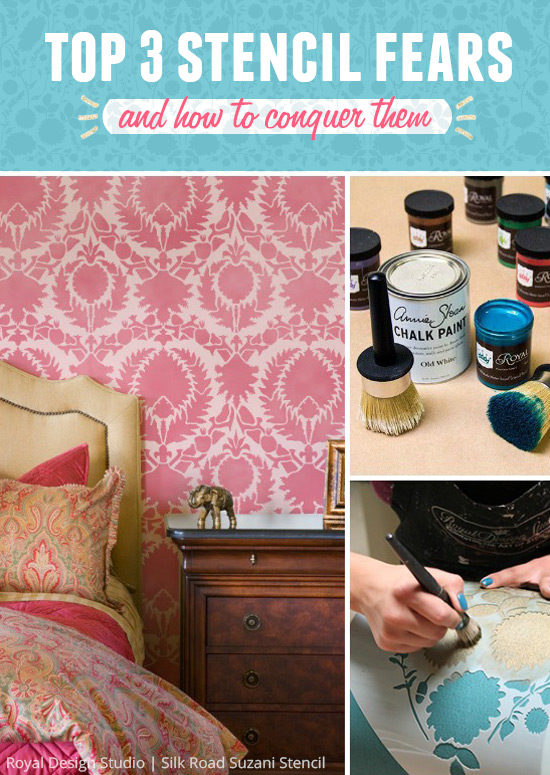 top 3 stencil fears and how to conquer them, crafts, painting