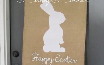 pottery barn inspired burlap bunny banner, crafts, easter decorations, seasonal holiday decor, wreaths