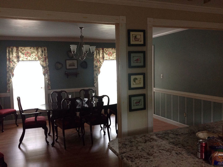 my hubby and I took out this wall between our kitchen and dining room and was able to put a island in the kitchen.