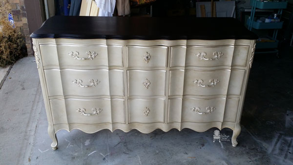 Painted French Provincial Triple Dresser Hometalk