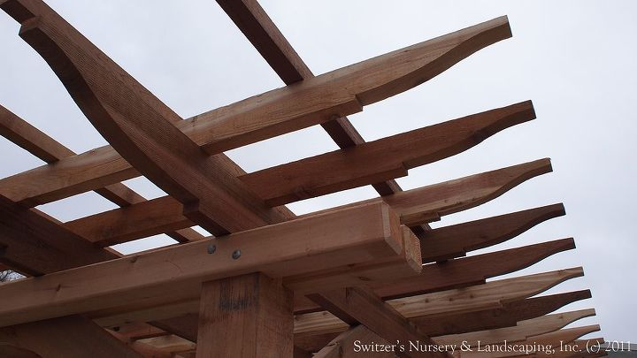 Strong joinery is important for years of enjoyment. The cross members can rest on the post which carries the load.  The fasteners hold the joint nice and tight in place.