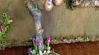 q fairy garden ideas, gardening, Wee fairy mailbox about 4 high