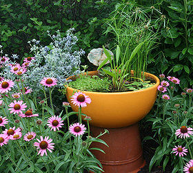 Container Water Gardens, Outdoor Living, Patio, Ponds Water Features,  Directions For Making