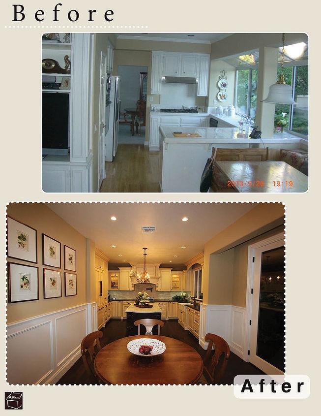 before after kitchen remodel ideas, home decor, home improvement, kitchen design