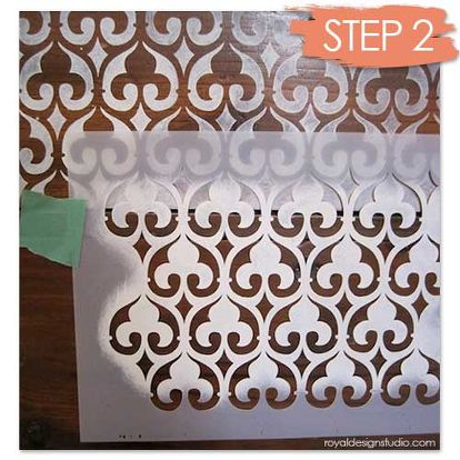 Our Moorish Fleur De Lis Stencil Is A Perfect Design To Transform This Old Dresser Into
