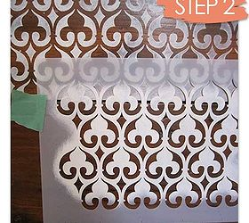 How To Stencil Wood Furniture With Chalk Paint Decorative Paint, Painted  Furniture, Our Moorish