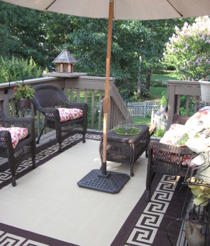 outdoor deck in birmingham al, decks, outdoor furniture, outdoor living, painted furniture, porches