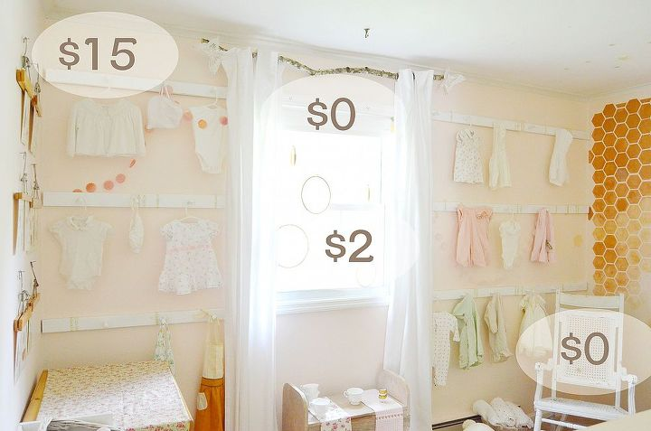 homemade peg rack with lots and lots of pegs easy and cheap, bedroom ideas, home decor, storage ideas, wall decor, Peg Rack Nursery Girl Pink DIY Design