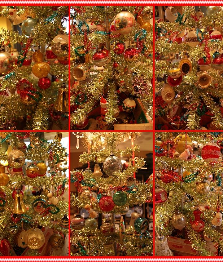 Close ups of some of the vintage ornaments