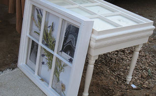 more great upcycling project ideas using architectural scraps, painted furniture, More wooden window projects