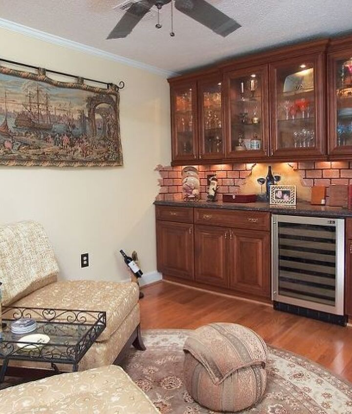 Furniture Built-Ins For Secondary Bedroom Turned Wine Room