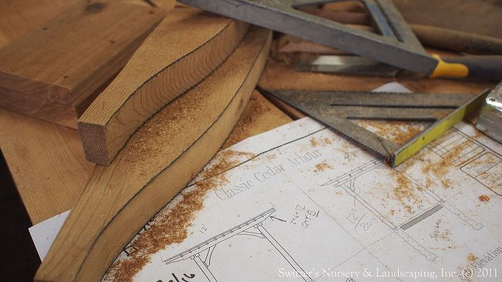 Patterns and Jigs... when ever possible make it easy to replicate any process in the construction.  Use scrap pieces of wood to make patterns to trace out details.