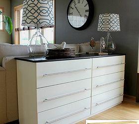 ikea tarva dresser transformed into a kitchen sideboard kitchen design painted furniture repurposing
