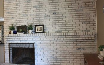 How to White Wash Your Fireplace or Brick