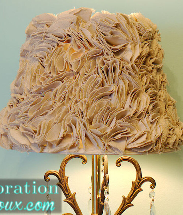ruffled lamp shade tutorial, crafts