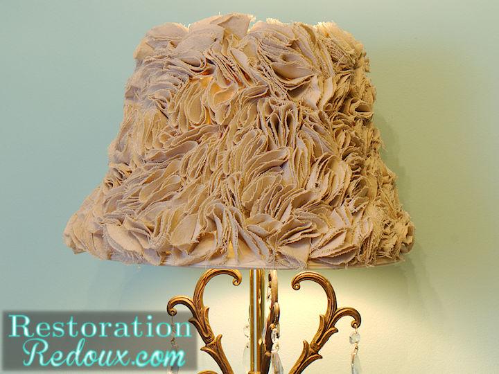 ruffled lamp shade tutorial, crafts