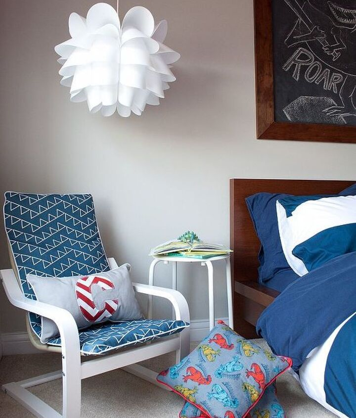 I revamped a childs IKEA chair for the perfect little reading nook.