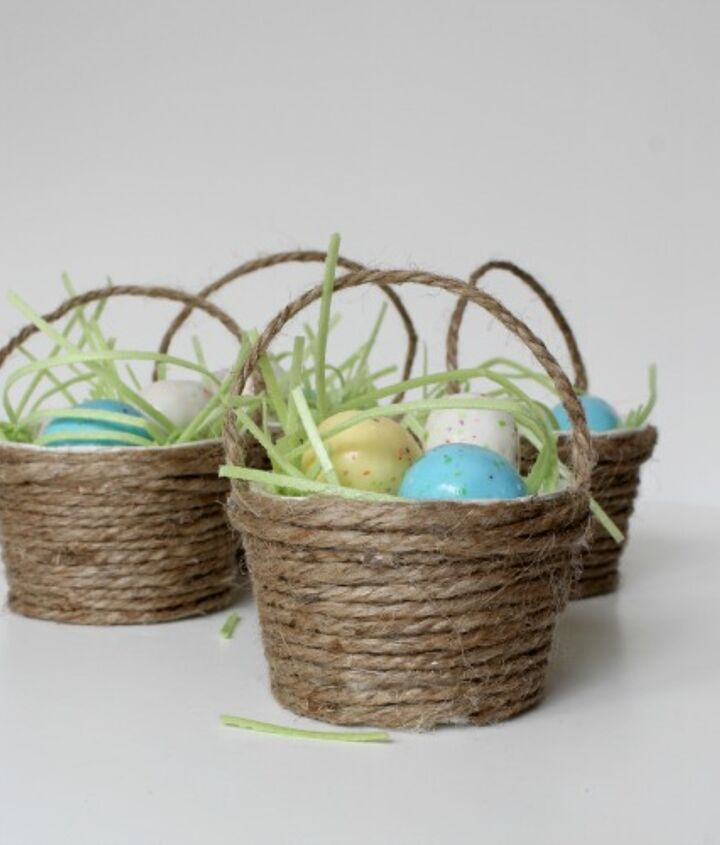 Fill them with edible grass and malted eggs for a sweet treat.