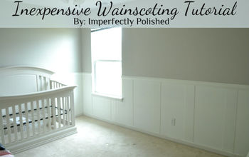 Inexpensive Wainscoting {Nursery Board and Batten}