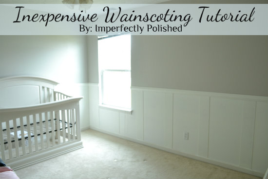 Inexpensive wainscoting nursery board and batten hometalk inexpensive wainscoting nursery board and batten home decor wall decor woodworking projects solutioingenieria Images