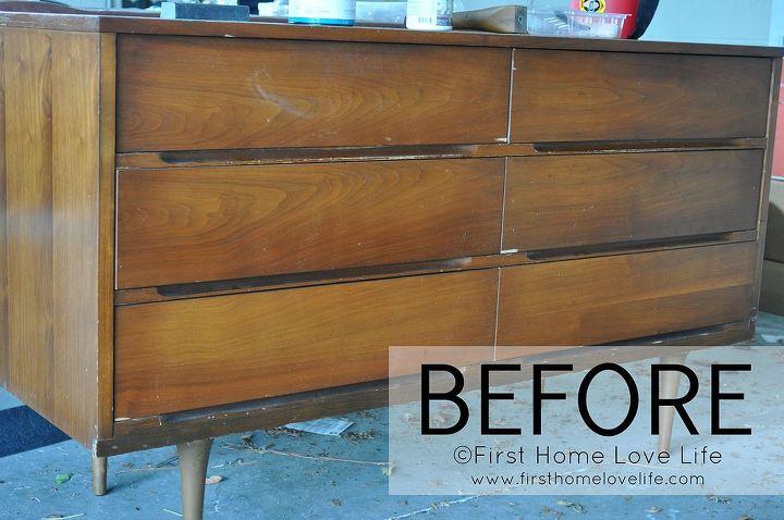 painted mid century furniturePainted Mid Century Modern Dresser  Hometalk