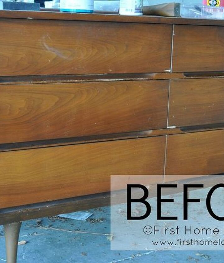 BEFORE: http://www.firsthomelovelife.com/2013/02/mid-century-dresser-gets-a-makeover.html