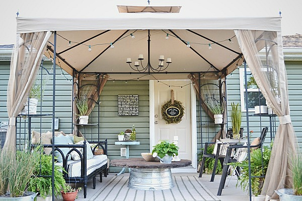 Back Patio Makeover Outdoor Furniture Living Painted The