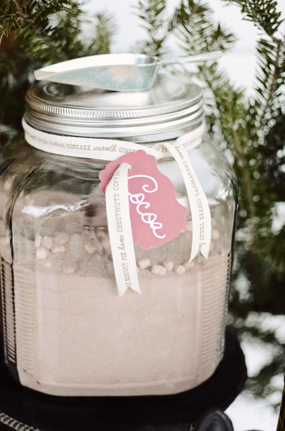 Hot Cocoa mix in a jar for Hot Cocoa Bar