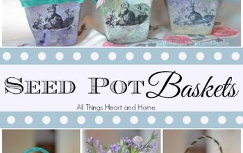 seed pot baskets, crafts, decoupage, easter decorations, gardening, seasonal holiday decor, Just in time for Easter Spring These little seed pot baskets are perfect for party favors teachers gifts or just to decorate your home