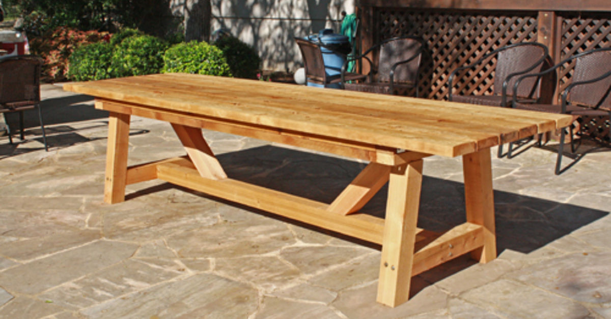 cedar provence table knockoff for 230 hometalk
