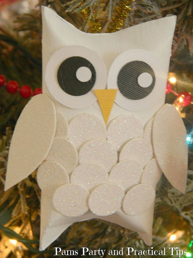 snow owl christmas ornaments christmas decorations crafts seasonal holiday decor