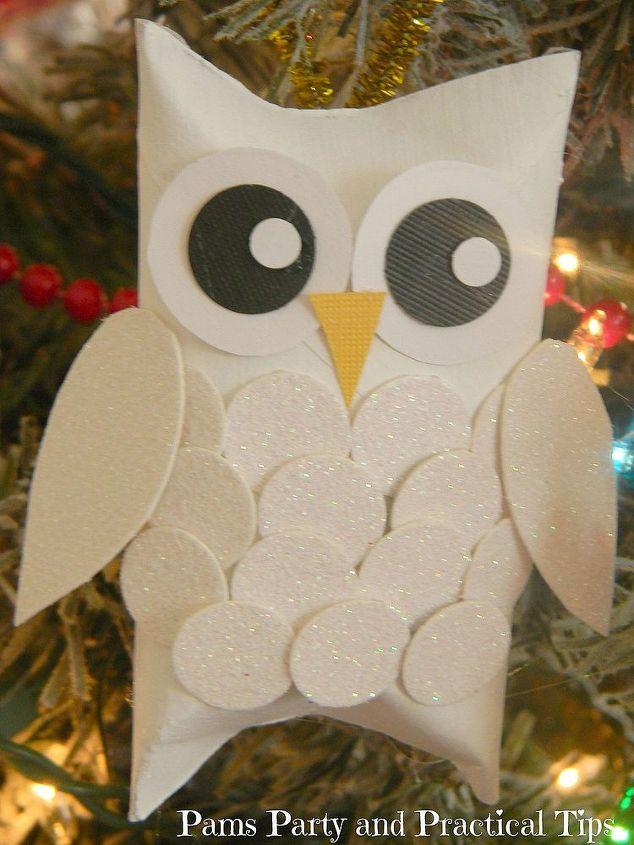 Snow owl Christmas orn...