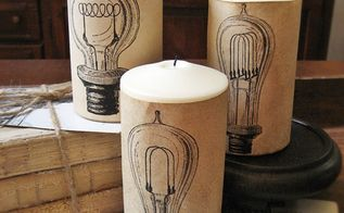 country living inspired filament bulb candle wraps, crafts, Love the vintage look Full instructions are on my blog