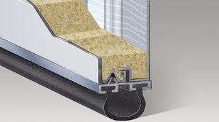 q garage door question, doors, garage doors, home maintenance repairs, Garage door with black vinyl astragal or bottom weather seal