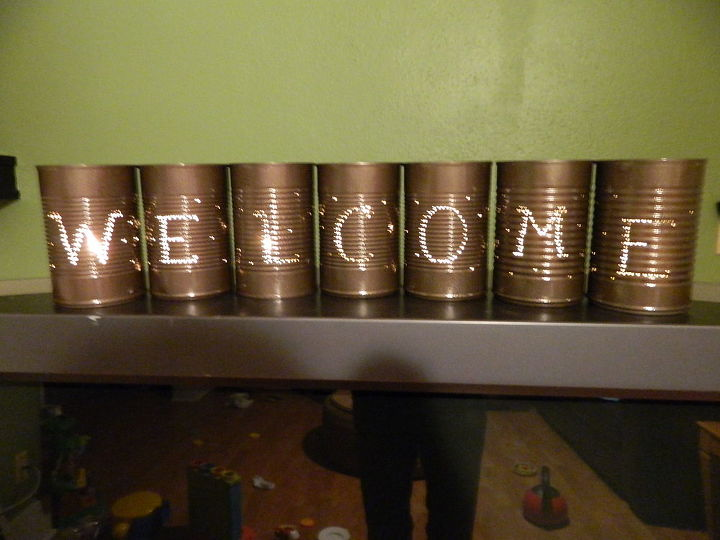 I spray painted them a dark bronze color when they were done.