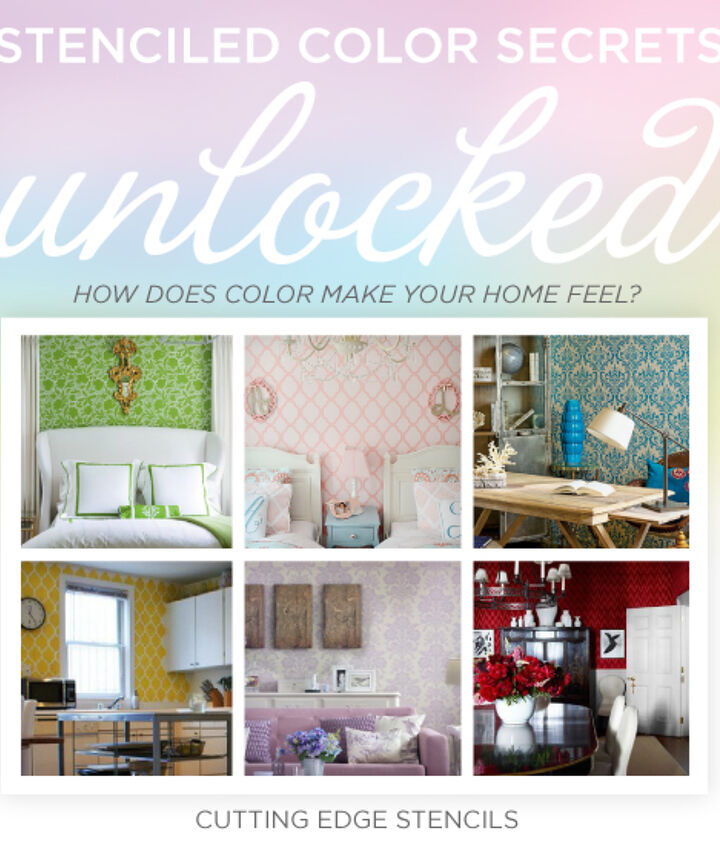 Cutting Edge Shares the psychology of color based on how color makes your home feel and tips for choosing a stencil color.