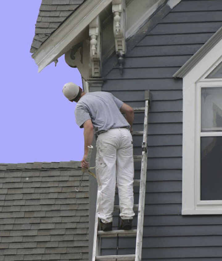Use a flat or satin (low-lustre) finish if siding is dented