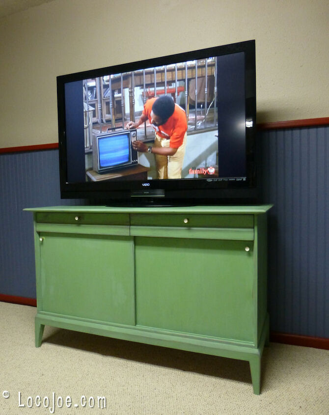 buffet to media cabinet, painted furniture, repurposing upcycling