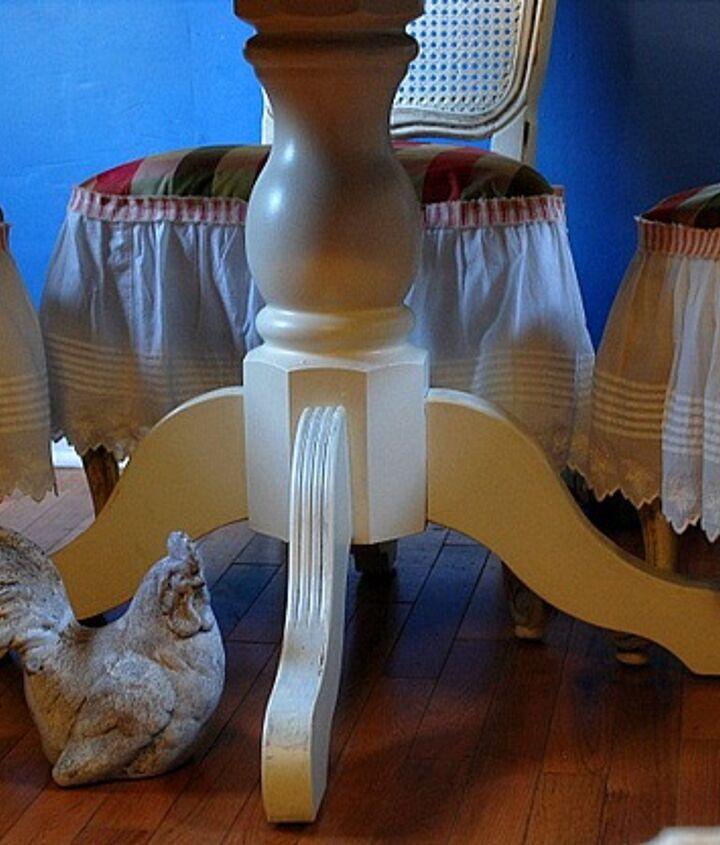 ralph lauren ruffled chair skirts, painted furniture, reupholster