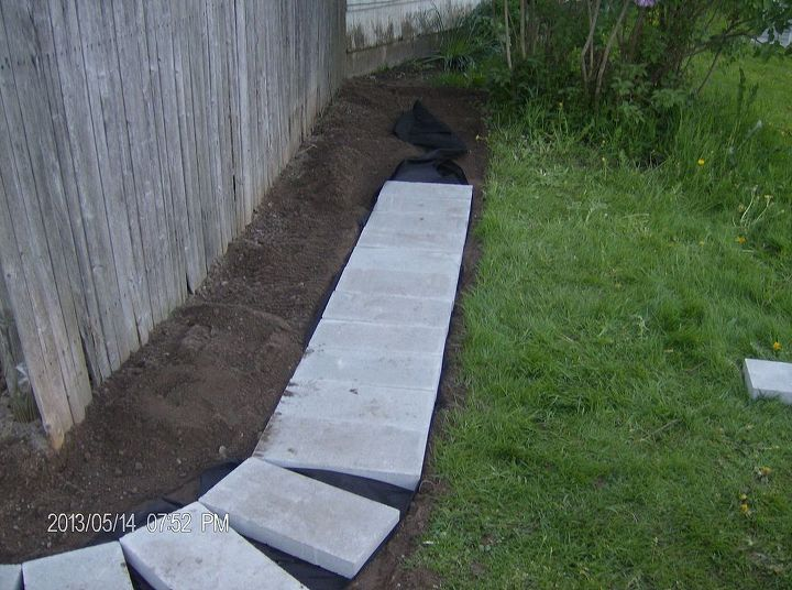 I put the landscape fabric under the stone to hopefully cut down on the weeds.