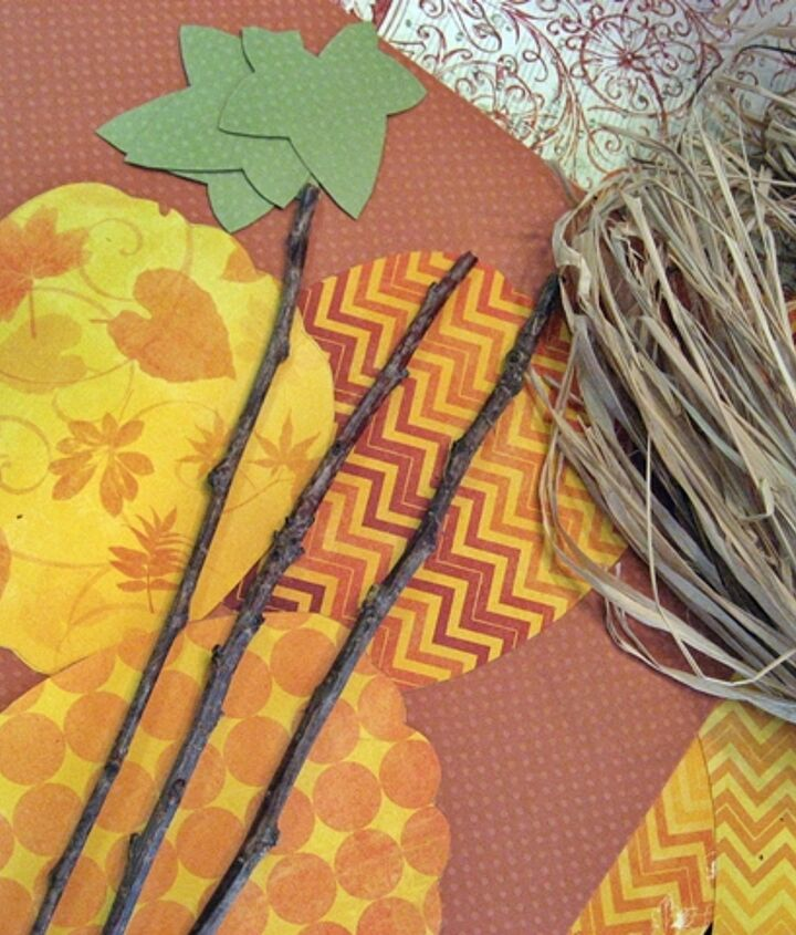 Here's all you need...scrapbooking paper sticks from the yard and raffia! Get the full tutorial on my blog!
