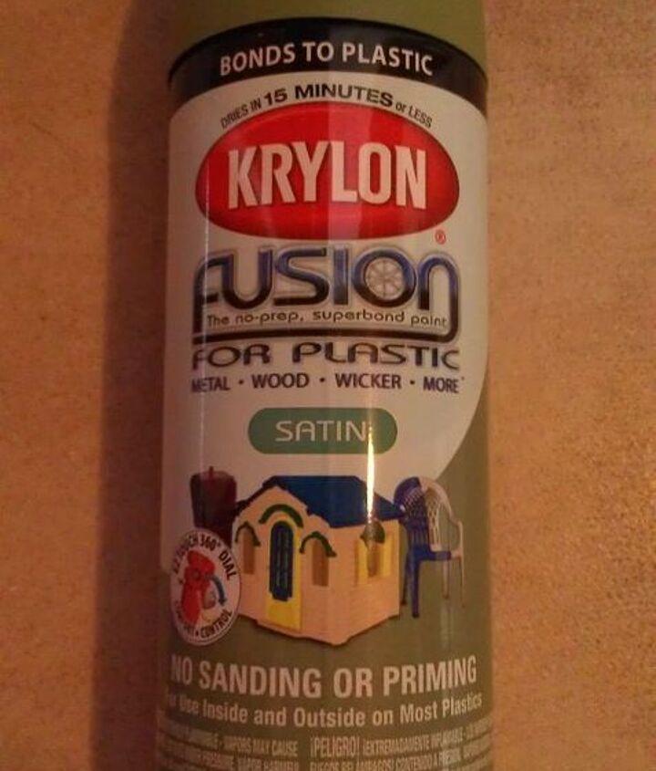 spray paint I used