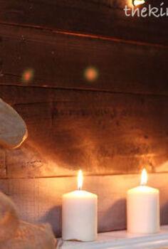 christmas mantle with illuminated reclaimed lumber sign, christmas decorations, crafts, repurposing upcycling, seasonal holiday decor