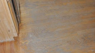 i m planning to replace the floor in my kitchen what substance would work better, flooring, kitchen design, tile flooring, tiling, heavy kitchen traffic ruined this wood floor 12 years old
