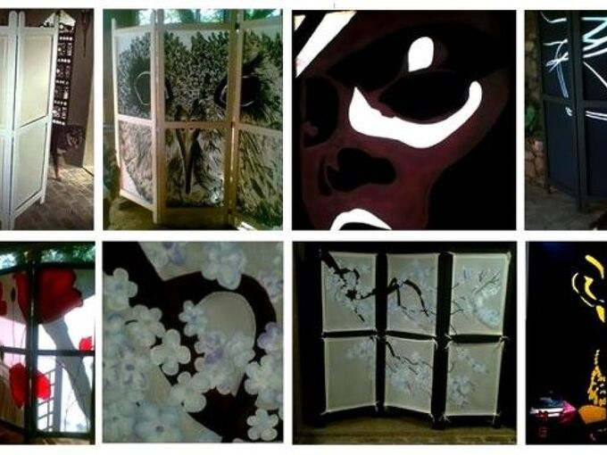 partition screens room dividers, crafts, home decor, All sorts partition screens wood and hand painted inserts