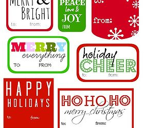 Free printable gift tags christmas from only