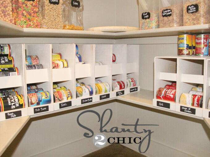 diy canned food organizers, closet, organizing