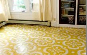how to paint your floors, flooring, painting, Painted stenciled floors by designaustin blogspot com